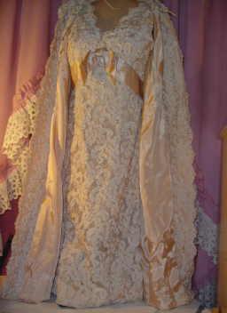 Vintage Lace & Ribbon Applique' Dress & Coat Set