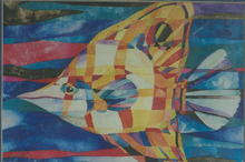 SALE Colorful Fish Watercolor