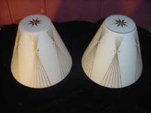 Vintage Mid Century Modern Satin Glass Light Shades or Globes