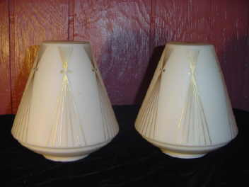 Vintage Mid Century Modern Satin Glass Light Shades or Globes
