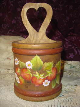 Hand Painted Wooden Caddy