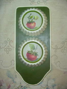 Hand Painted Strawberry Wall Hanging