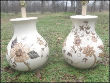 Vintage Large Ceramic Table Lamp Pair