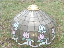 Leaded Stain Glass Hanging Light Fixture