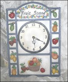 Fruit Stand Kitchen Clock