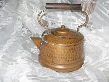 Vintage Hand Hammered Copper Teapot
