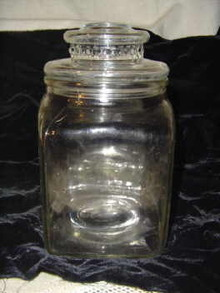 Vintage Clear Glass Candy Jar