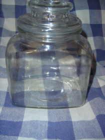 Vintage Clear Glass Candy Jar