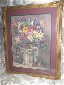 Homco Home Interior  Framed Floral Picture