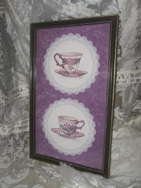 Homco Home Interior Teacup Picture