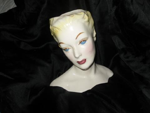Vintage Hand Painted Head Vase