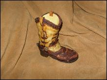 Homco Home Interior Western Boot Decoration