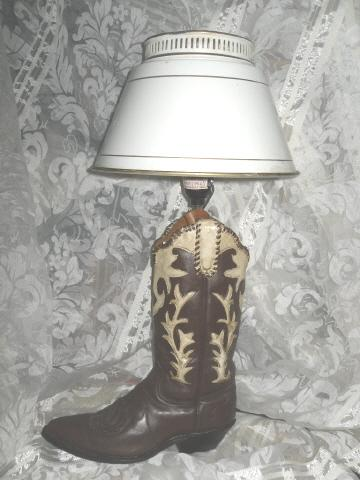 Cowboy Western Boot Table Lamp