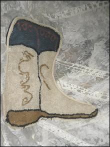 Cowboy Western Boot Rug