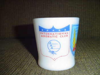 Vintage Fire King Aircraft Aviation Mug