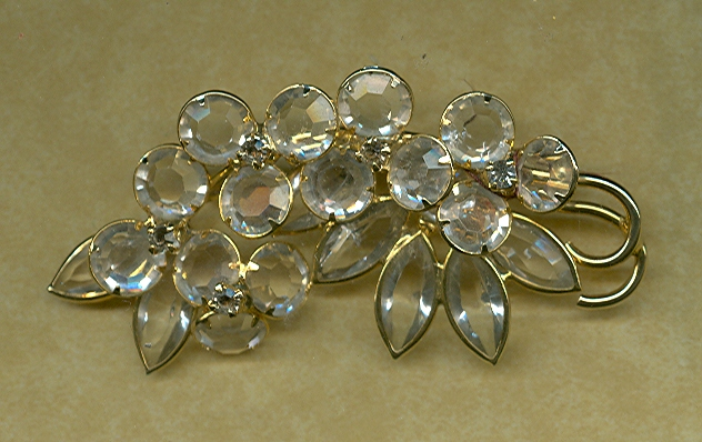 Large Crystal Brooch