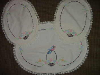 3 Piece Doilie Set  Hand Crochet & Needlepoint