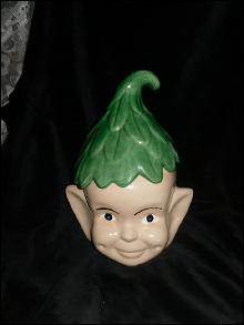 Vintage Pixie Elf Cookie Jar