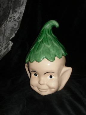 Vintage Pixie Elf Cookie Jar