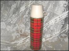 Vintage Large Red Plaid King Seeley Thermos