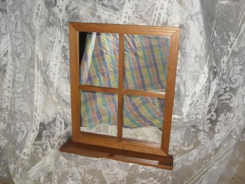 Mirror Window w/Shelf