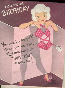 vintage happy birthday card  humurous, Birthday card