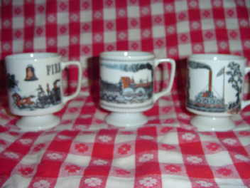 Vintage Steam Engine Mugs