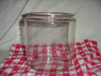 Large Glass Counter Cookie Jar