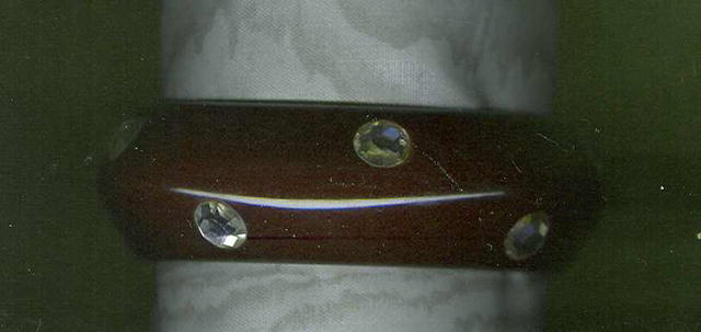 Deep Purple Bangle Bracelet w/Rhinestones