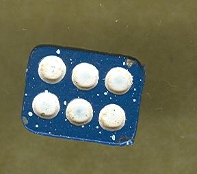Miniature Enamelware  Muffin Pan