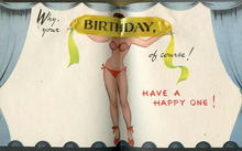 The Cutest !  Vintage Birthday Greeting Card