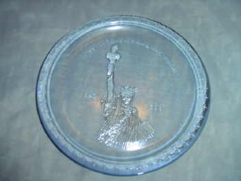 Statue of Liberty  100 Year Anniversary Plate