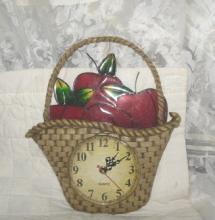 Stained Glass Apple Kitchen Clock