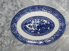 Vintage Blue Willow Platter