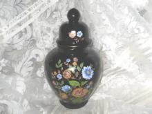 Vintage Large Black  Ardalt Ginger Jar