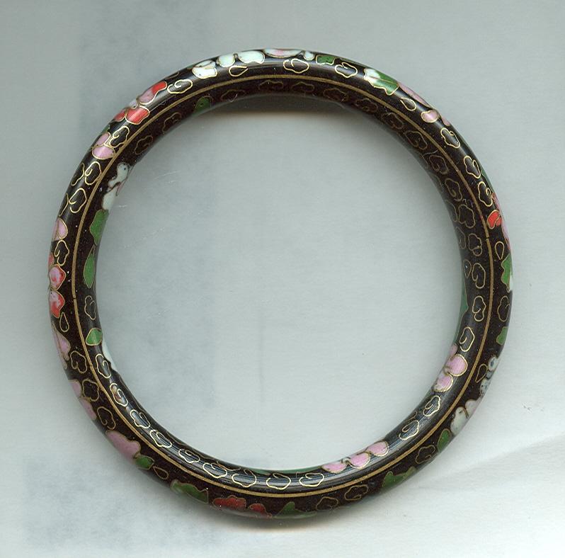 Large Size Cloisonne Bangle Bracelet