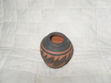 Hand Made Native American Clay Pot Signed