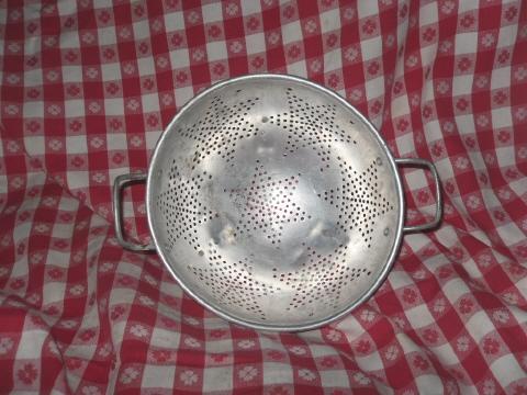 Vintage Aluminum Star Colander