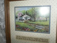 Church Scene Picture w/ Children Scripture Below  **LOOK**