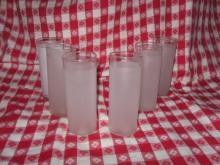 Vintage Frosted Tumblers or Frosted Drinking Glasses  **6**