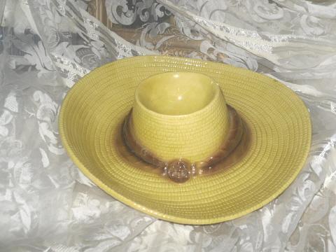 Vintage Metlox Sombrero Dish or  Chip & Dip Bowl