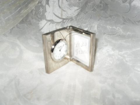 Vintage Silver Clock & Picture Frame