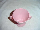 Pink Glass Pedestal Open Sugar Bowl