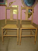 Antique Oak Chairs  Marked