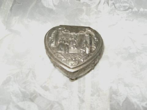 Vintage Heart Shaped Jewelry Box