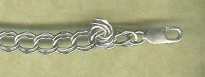 Sterling Silver Flat Double Link Bracelet