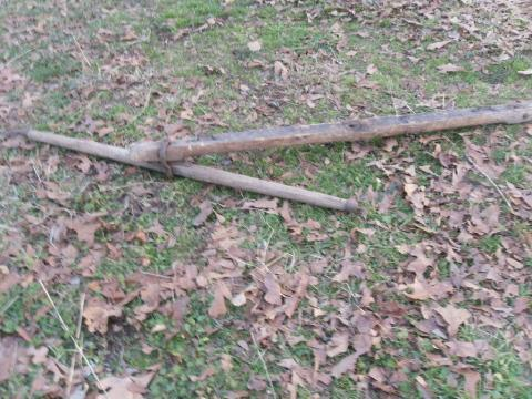 Antique Wood Double Tree used for Horse Drawn Buggy