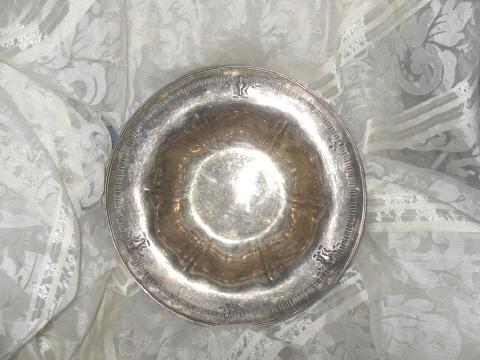 Vintage Sheffield Reproduction Bowl w/Beautiful Rim  **Hallmarks