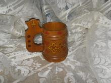 Vintage Wooden Tandkard Made in USSR