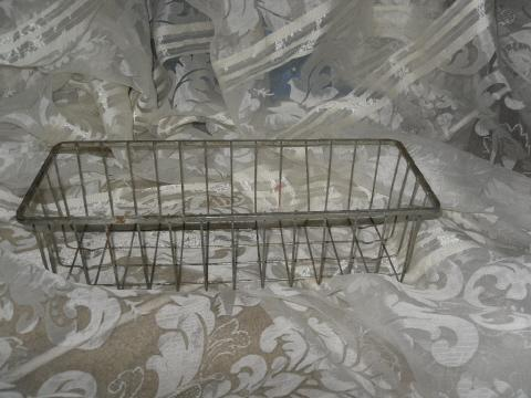 Vintage Industrial Age Wire Basket